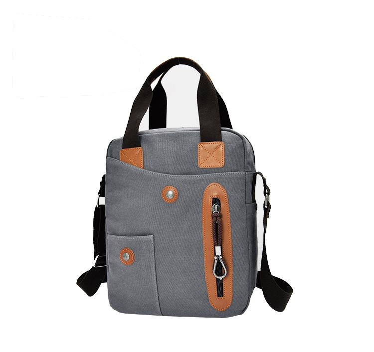 Men Canvas Leisure Business Vertical Crossboby Bag Handbag Light Weight Minimalist Briefcase