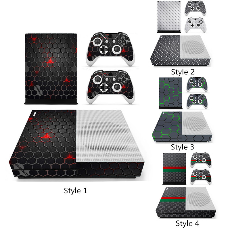 Net Grids Series Designer Skin for XBOX ONE S Gaming Console+2 Controller Sticker Decal