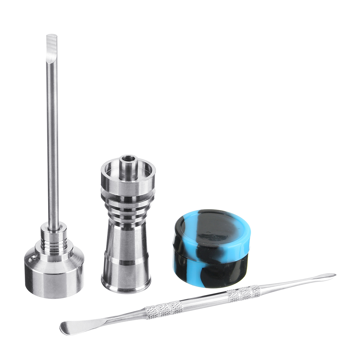 14/18MM Silicone Jar Tool Titanium Nail Carb Cap Dab Dabber Drill Female Male