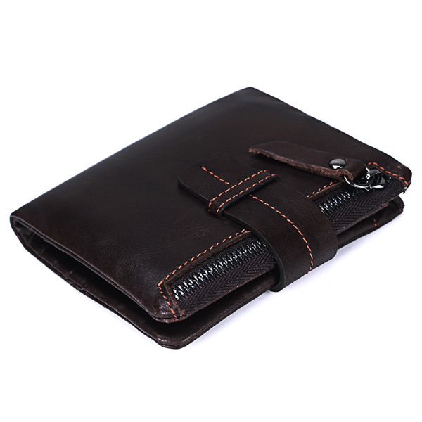 Details: Material Genuine Leather Color Black, Coffee Weight 110g Length 11.50cm (4.50'') Height 9.50cm (3.70'') Width 2.00cm (0.80'') Pattern Solid Inner Pocket 7 Card Holders, 2 Zipper Pockets, Photo Holder Closure Zipper Package include: 1*Wallet More #purse