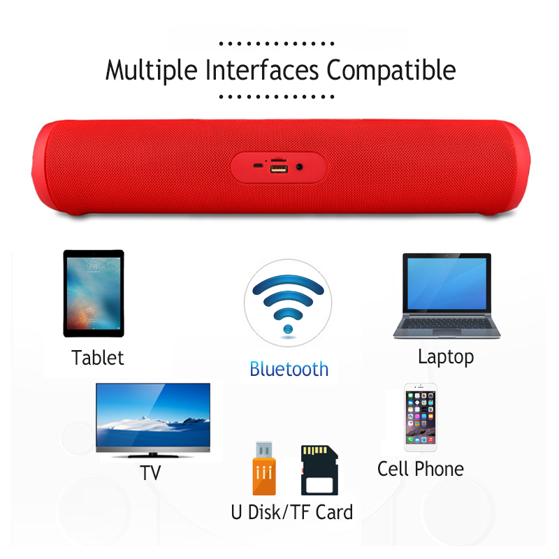 Universal Stereo FM Radio Desktop Hands-free Call TF Card 3.5mm Aux Wireless bluetooth Speaker
