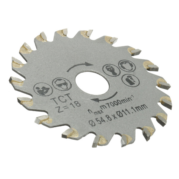 18 Teeth Diameter 54.8mm Circular TCT Saw Blade Concrete Cement Wood Cutting Saw Blade