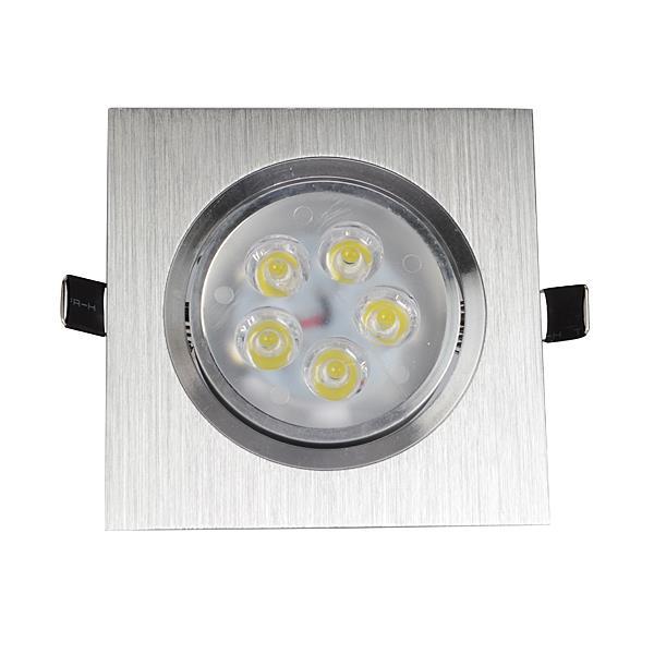 3W/5W/7W/12W One Head Sliver LED Square Ceiling Recessed Light Down Light 85-260V