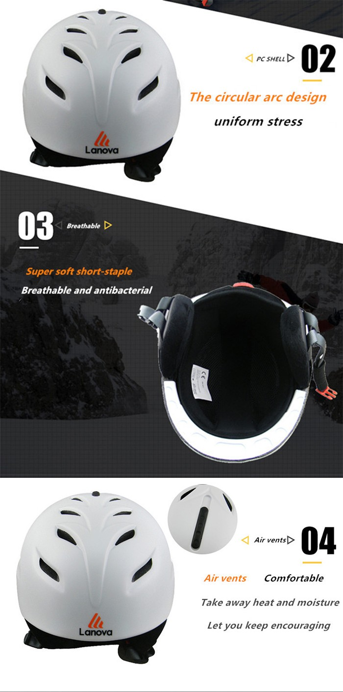 LANOVA Ski Helmet PC+EPS CE Certificate Outdoor Sports Ultralight Skateboarding Skiing Helmets