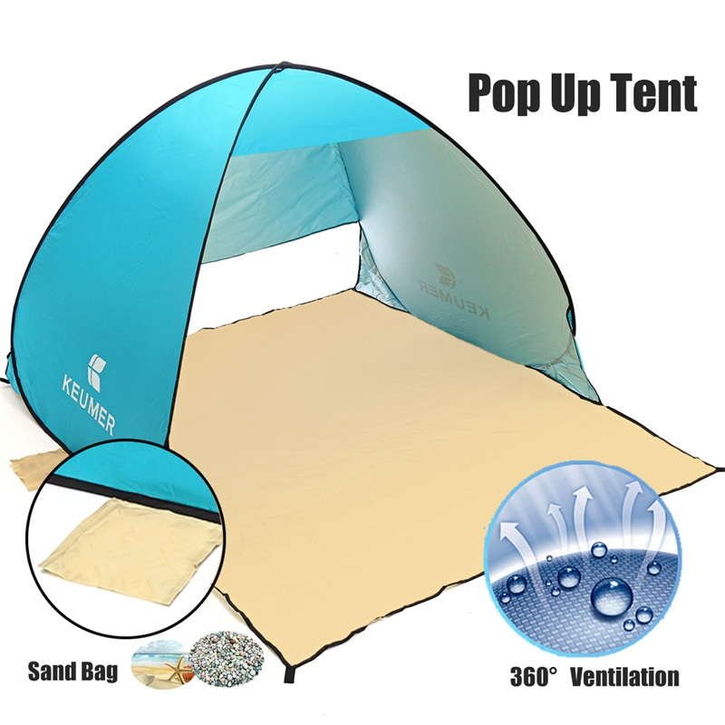 150x180x110cm Pop Up Outdoor Camping Fishing Tent Anti-UV Waterproof Ventilation Shelter Tent