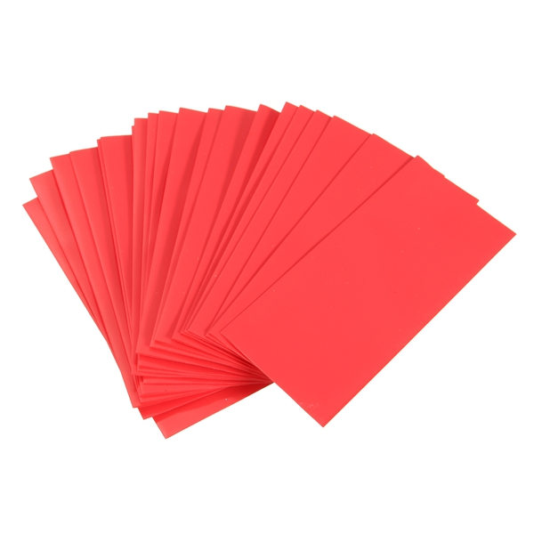 20PCS Li-ion 18650 Battery Wrap PVC Heat Shrink Tubing Precut Red/Black/White