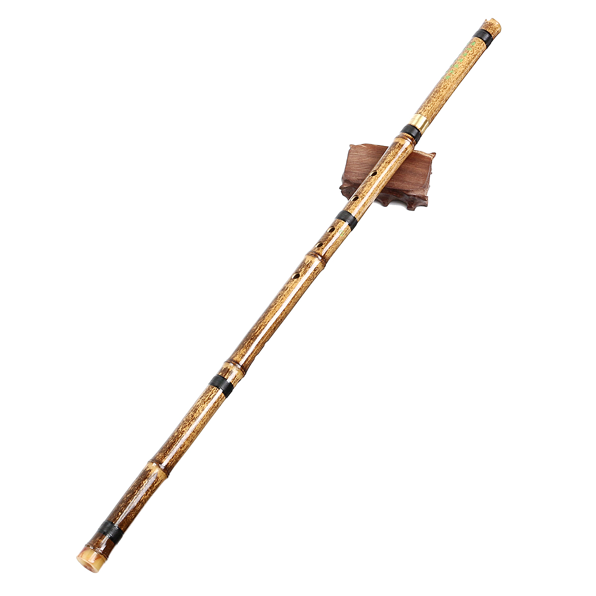 G/F Key Detachable 2 Sections Natural Purple Bamboo Chinese Woodwind Flute