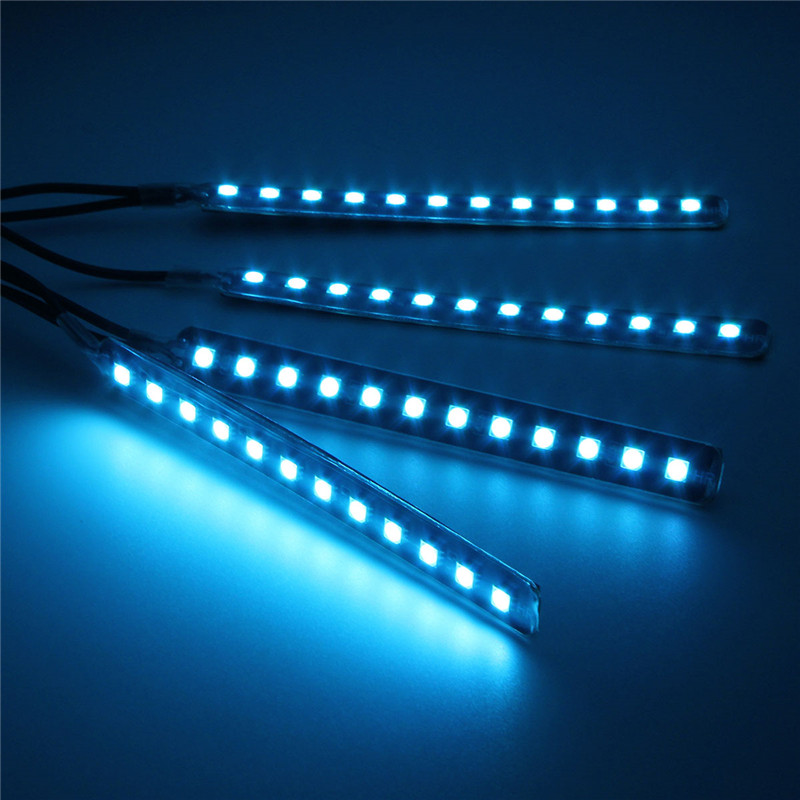 12V LED Atmostphere Light Strip Car Interior Decoration Strobe Lamp Modification Lighting