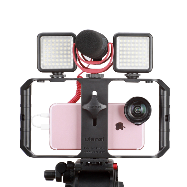 Ulanzi U-Rig Pro 3 Shoe Mount Smartphone Video Rig Filmmaking Handheld Stabilizer Grip with Fill Light