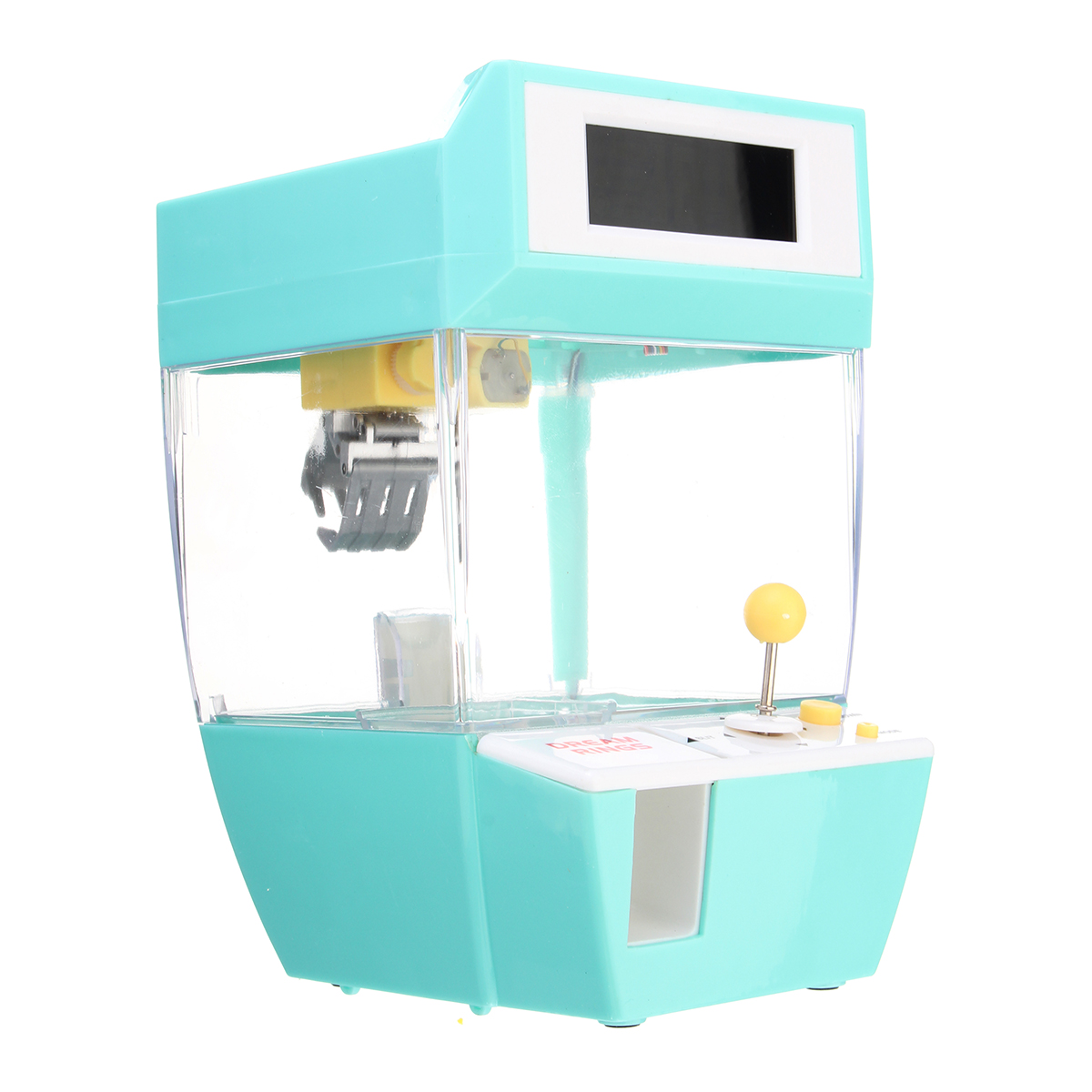 Mini Crane Claw Machine Coin Operated Candy Grabber Doll Balls Catcher Alarm Toy