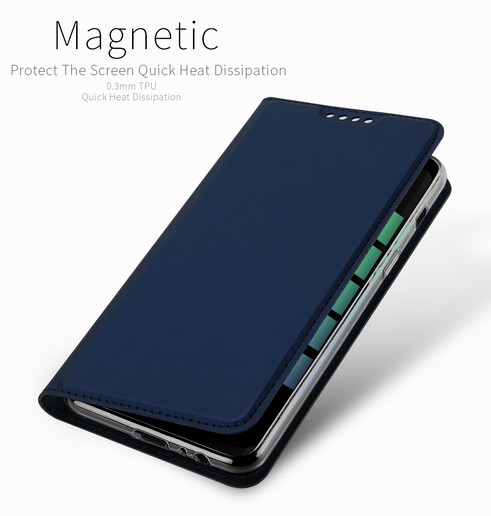 DUX DUCIS Card Slot Magnetic Flip Bracket Protective Case for Samsung Galaxy A8 (2018)