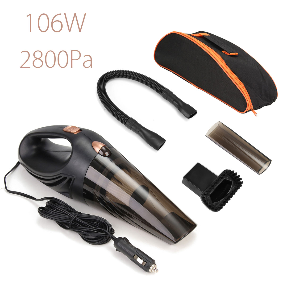 106W 12V 4 in 1 1Portable Handheld Wet and Dry Car Vacuum Cleaner with Bag