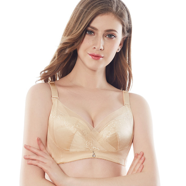 Cotton Wireless Thin Large Size Bra