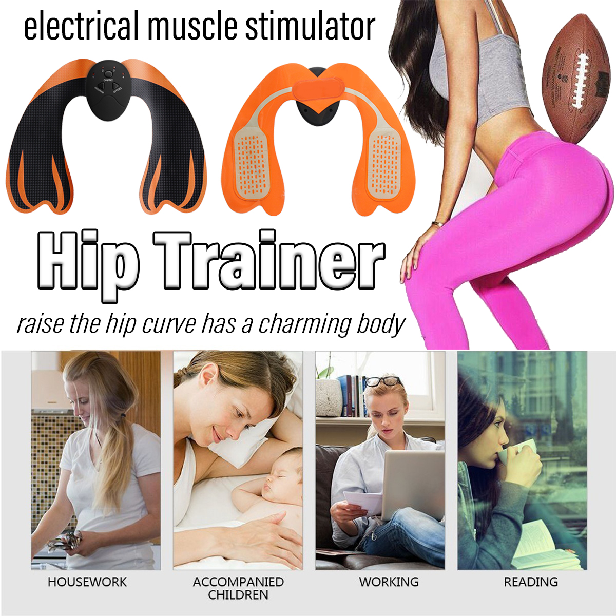 KALOAD 6 Modes EMS Hip Lifting Trainer Buttocks Shaping Body Beauty Massager Fitness Equipment