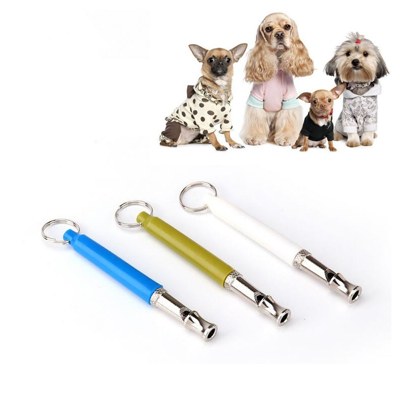 Adjustable Pet Dogs Whistle Anti Bark Ultrasonic Sound Dogs Training Flute Pet Trainer Control Tools