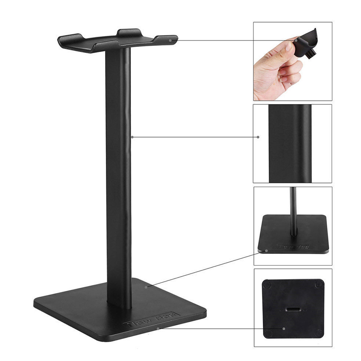 Universal Aluminum Alloy Headphone Stand Holder Earphone Headset Hanger Display Rack