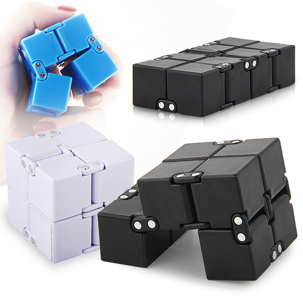 ECUBEE Finger Infinite Cube Anxiety Stress Relief Fidget Focus Adults Kids Attention Therapy Gadget