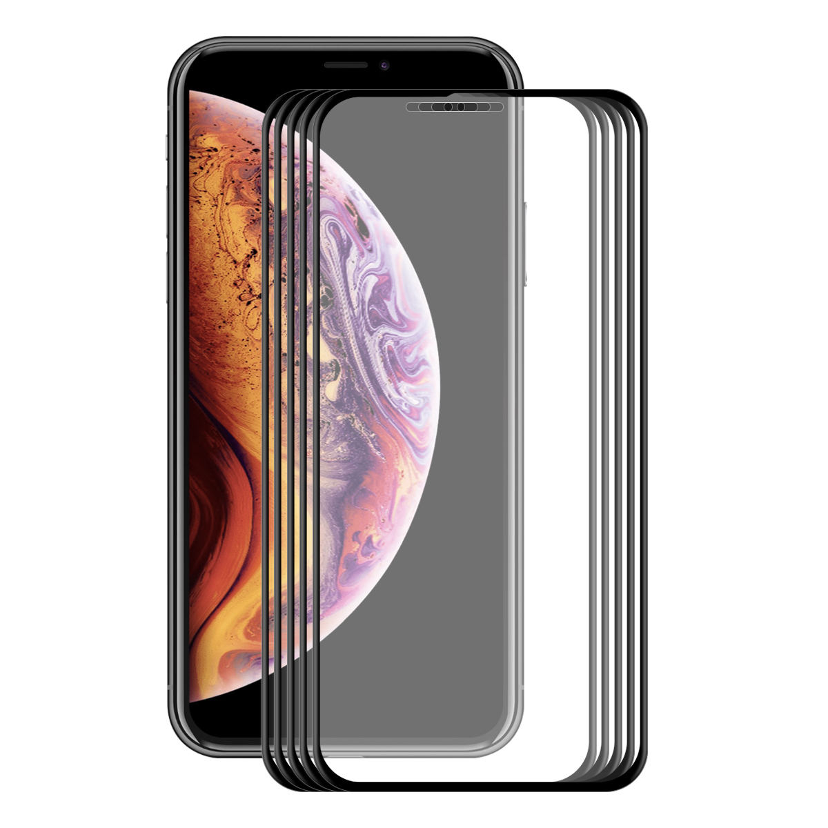 5 Packs Bakeey Screen Protector For iPhone XR 3D Soft Edge Carbon Fiber Tempered Glass Film