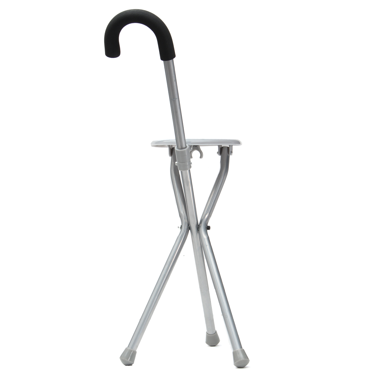 Outdoor Travel Folding Stool Chair Portable Tripod Cane Walking Stick Seat Camping Hiking