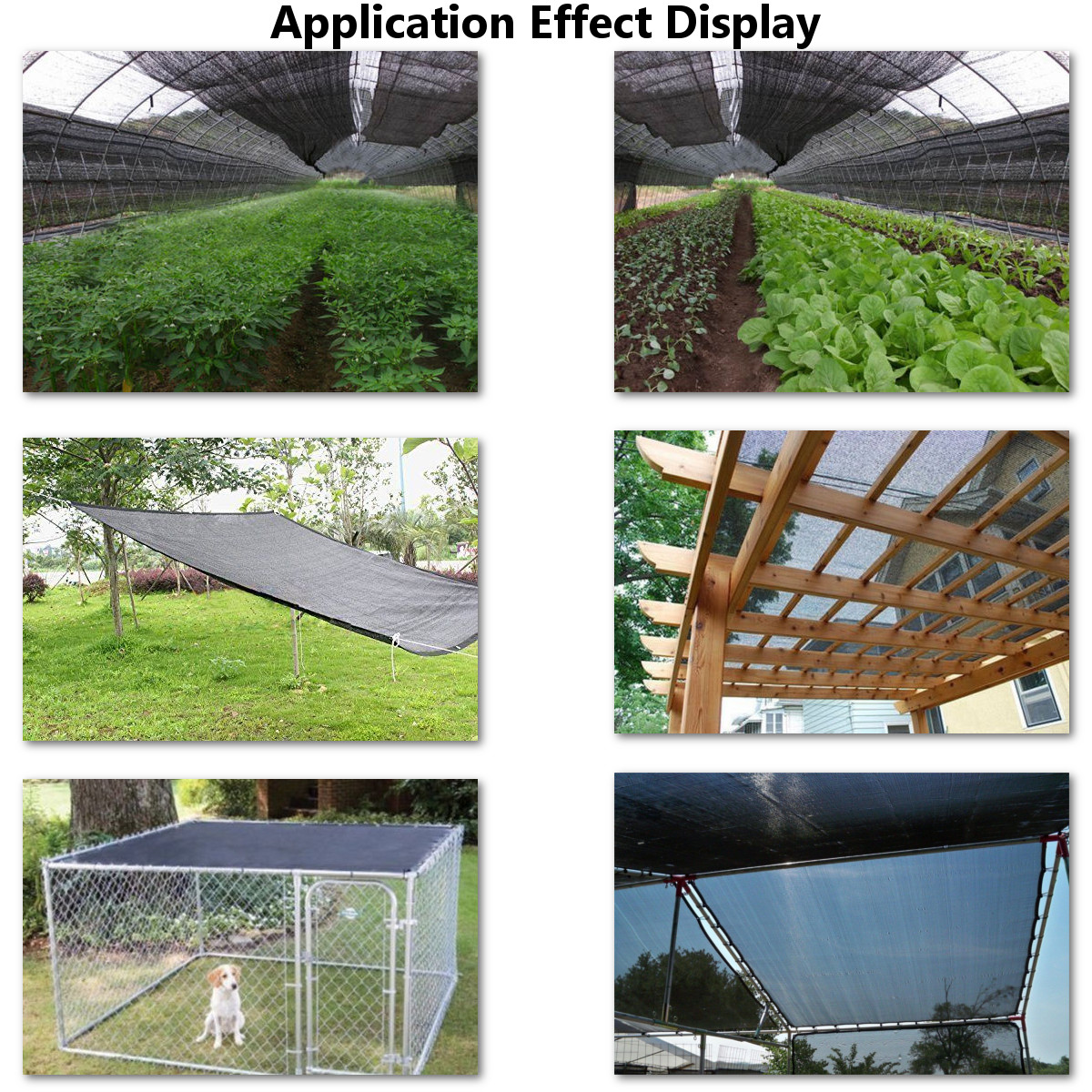 4x5m 40% Sunblock Sun Shade Cloth for Plant Cover Greenhouse Barn Parking Lot