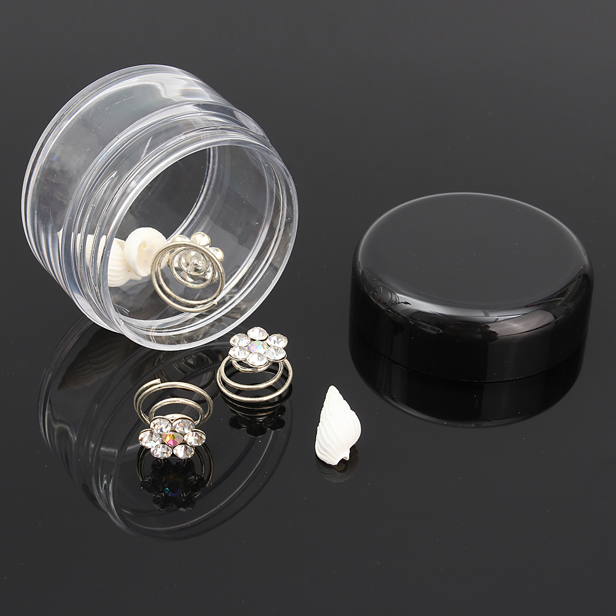 LuckyFine 10pcs Transparent Empty Eye Cream Jar Cosmetic Plastic Bottle Travel Makeup Container