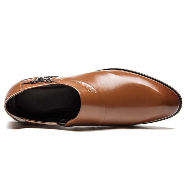Men Pointed Toe Business Shoes
