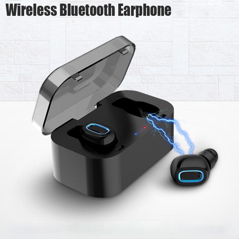 [True Wireless] TWS Double bluetooth Earphones Portable IP5 Waterproof Headphones with Charging Box