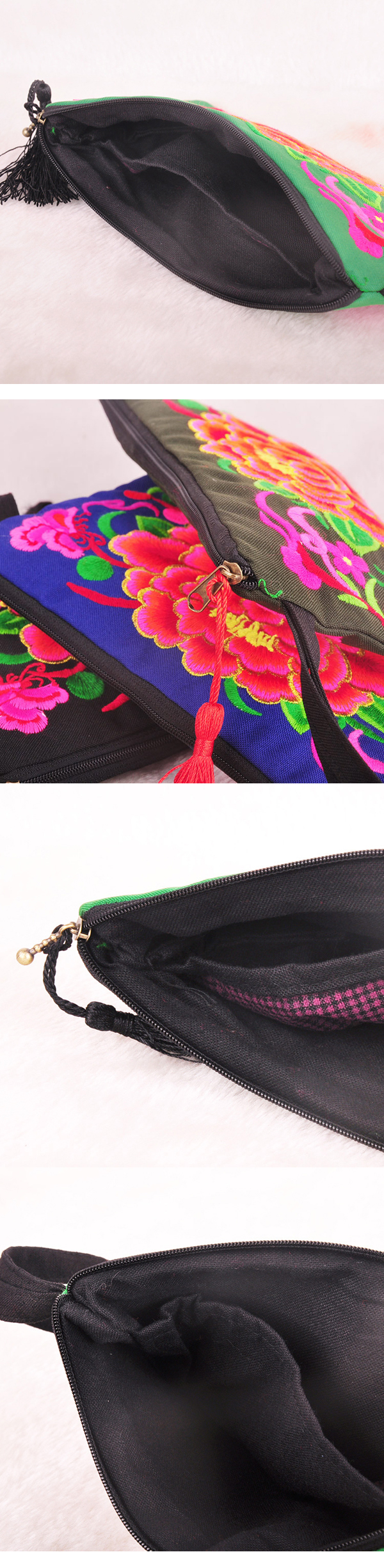 National Style Fashion Purse Embroidery Bag Clutch Bag