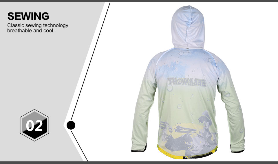 SEAKNIGHT SK003 Fishing Clothing Long Sleeve Breathable Anti-UV Sun Jacket