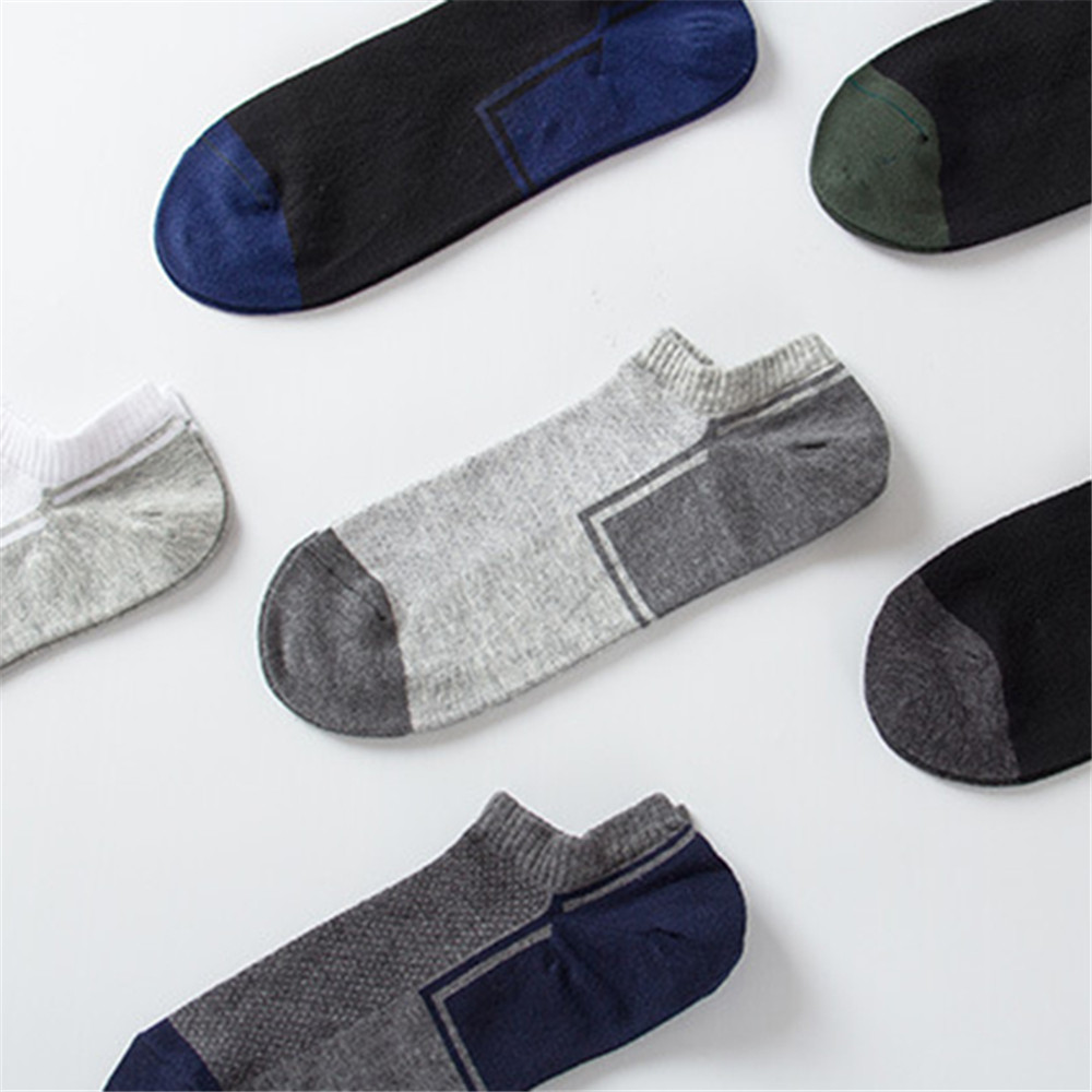 6 Pairs Set Men Cotton Sports Short Tube Socks
