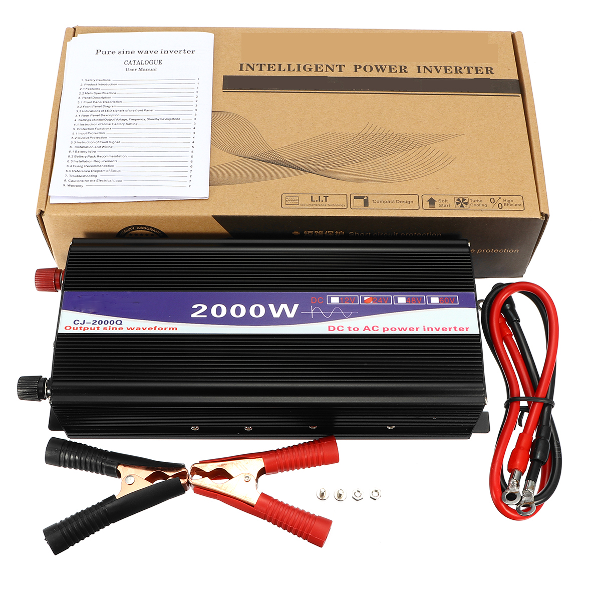 2000w Peak 12v 24v 48v To 220v Pure Sine Wave Power Inverter Digital Puresinewaveinverterdiagrampng Display