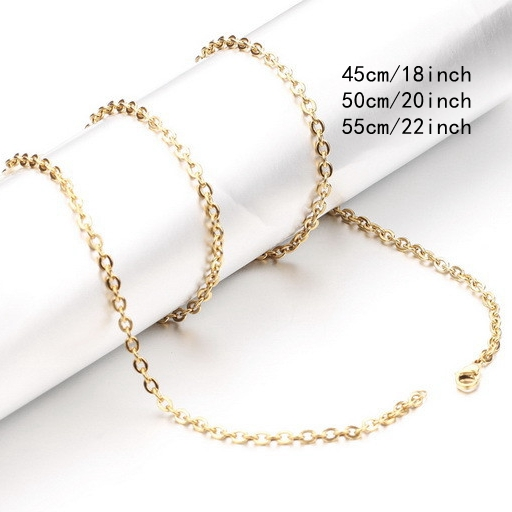 316L Stainless Steel Necklace Unisex Chain Jewelry