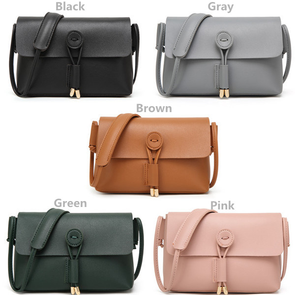 Women PU Leather Hasp Shoulder Bags Vintage Flap Crossbody Bags Messenger Bags