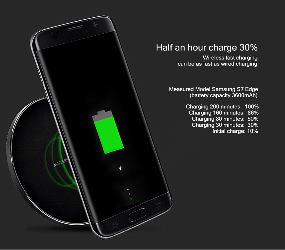 Bakeey Qi Wireless Metal Charger Shell 10W Wireless Fast USB Charger for iPhone 8 8Plus Samsung