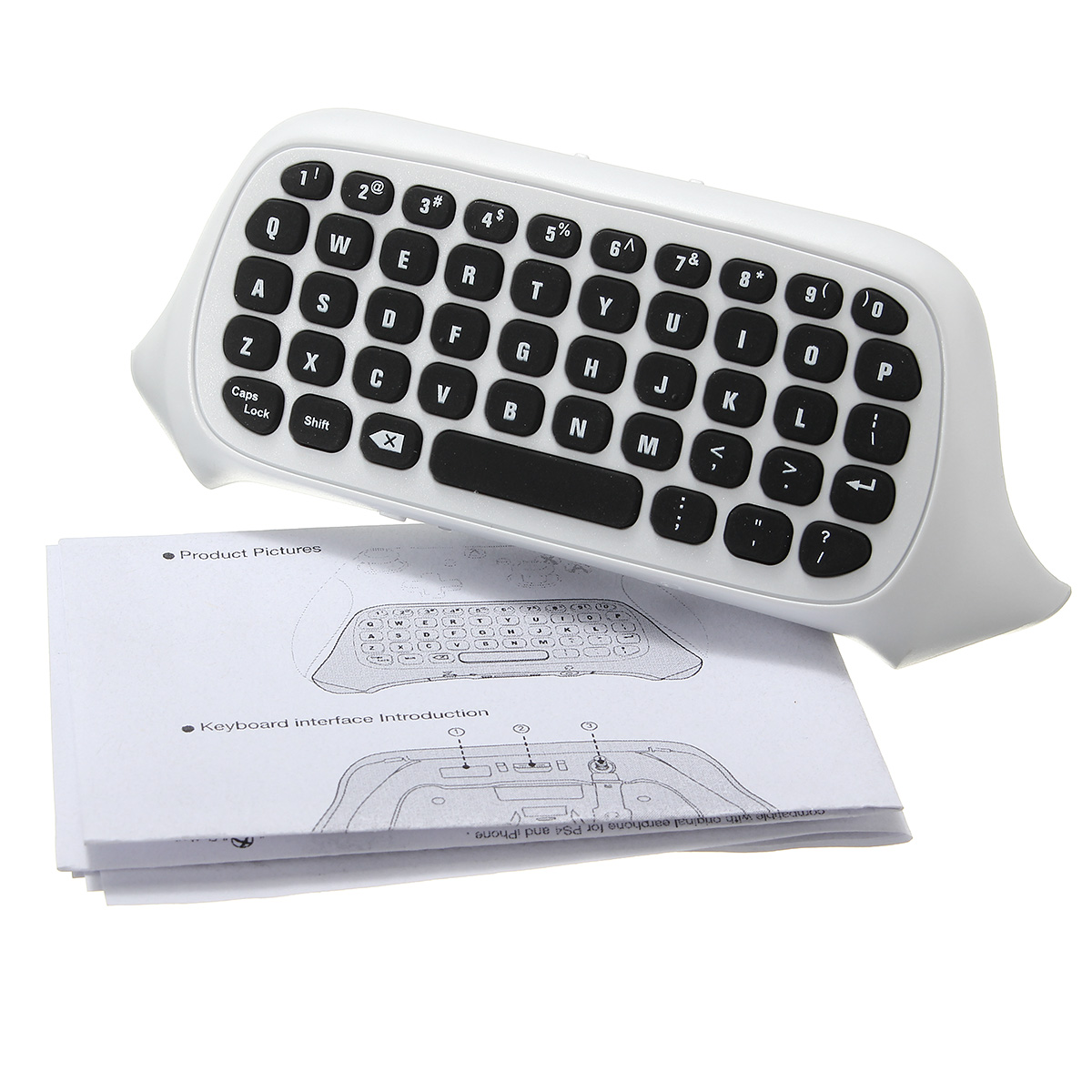 2.4G Wireless 47 Keys MINI Keyboard Chatpad Message Text Keyboard For Xbox One S Slim Controller