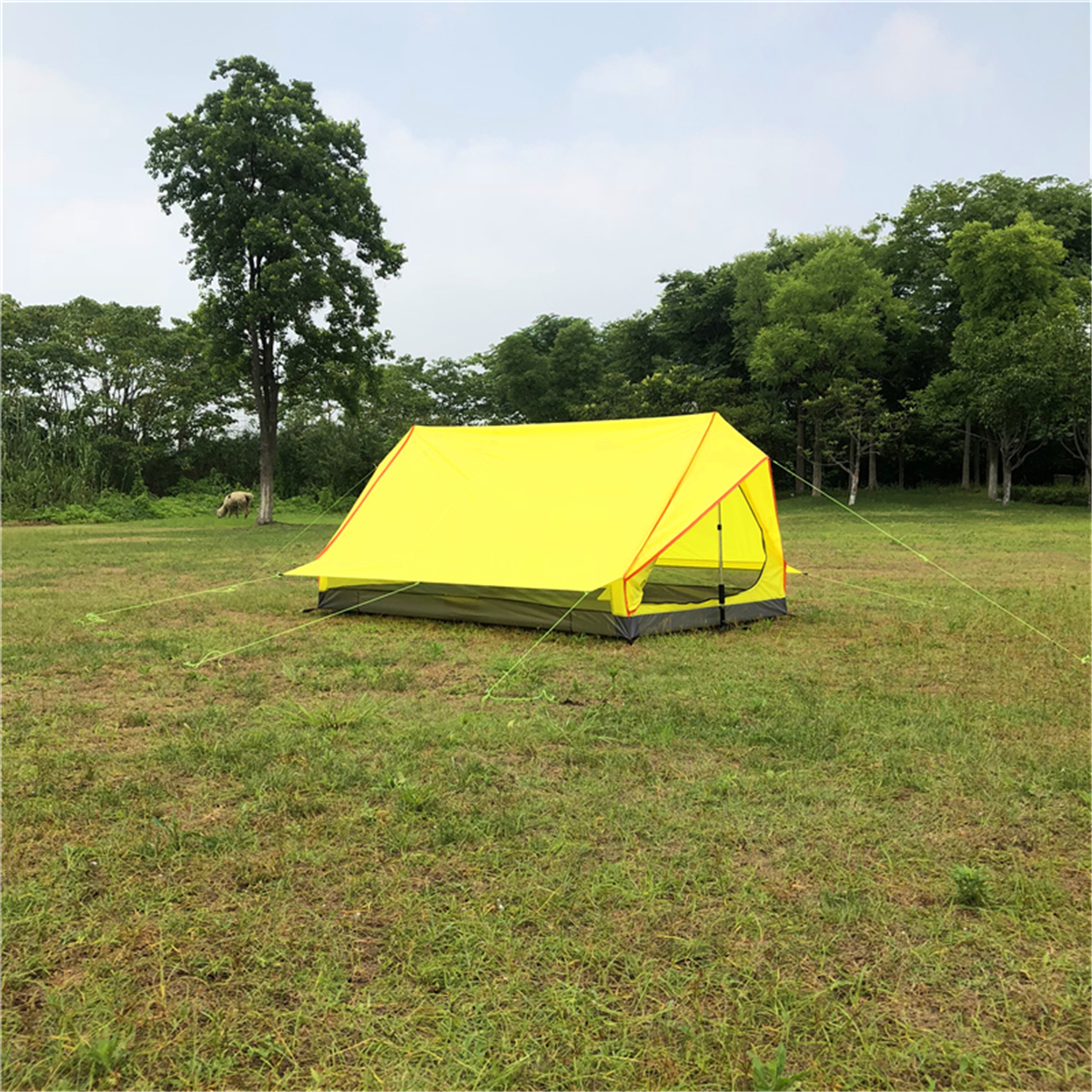 Outdoor Ultralight Backpacking Tent Pole Less Portable A-shaped Waterproof & Sunscreen Tent Camping Supplies