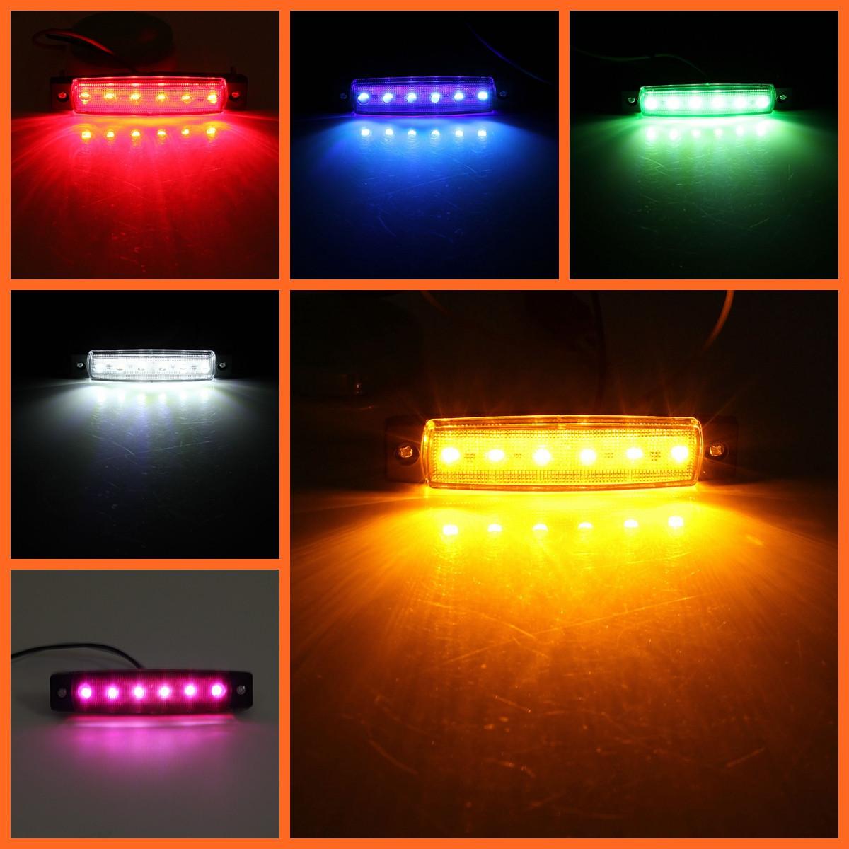 LED Side Marker Indicator Lights Lorry Sidelamp 9.6cm 5-Color for Jeep Car Truck SUV