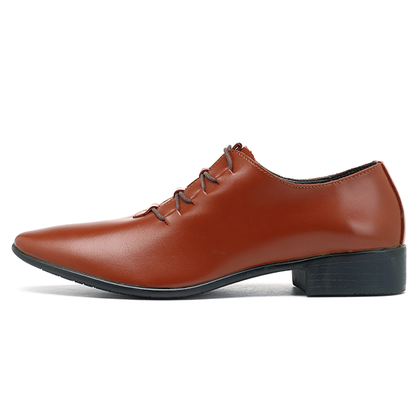 Men Soft Leather Lace Up Business Formal Shoes