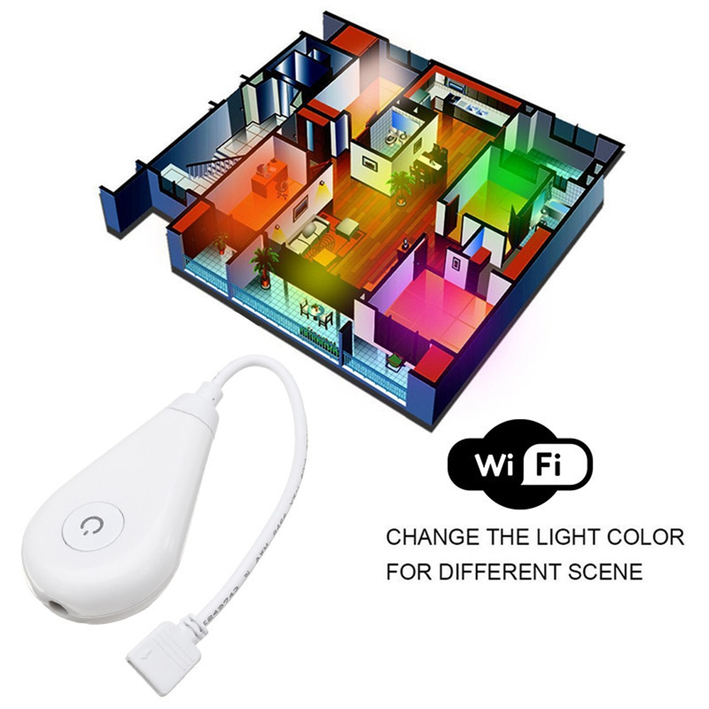 ARILUX® 60W 4Pin Voice Control Smart WiFi APP RGB LED Strip Light Controller Work With Alexa DC5-12V