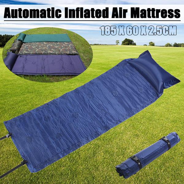 185 x 60 x 2.5cm Camping Mat Automatic Inflatable Anti-Moisture Sleeping Air Mattresses