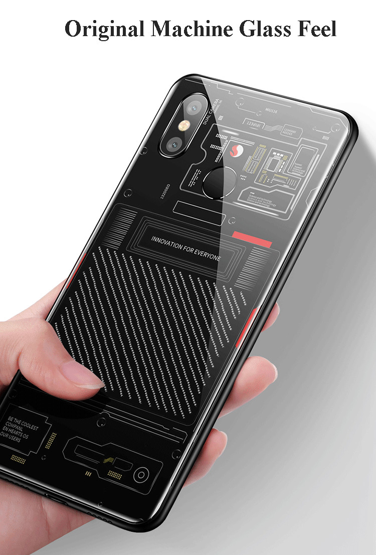 Bakeey Change Into Mi8 Explorer Edition Tempered Glass Protective Case For Xiaomi Mi8 Mi 8 6.21 Inch