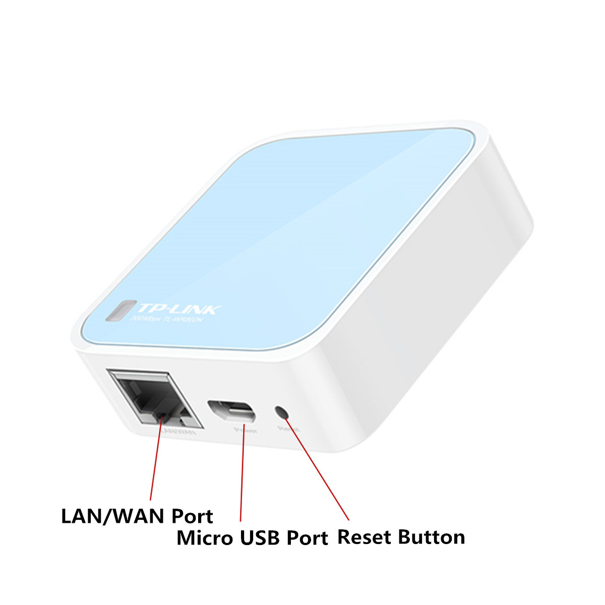 TP-Link TL-WR802N 2.4GHz 300Mbps Wireless WiFi Router Repeater AP for Hotel Travel Home