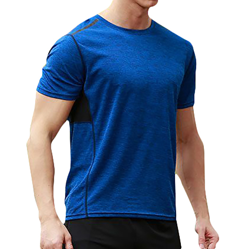 Mens Solid Color Rapid Perspiration Loose Sports T-Shirts