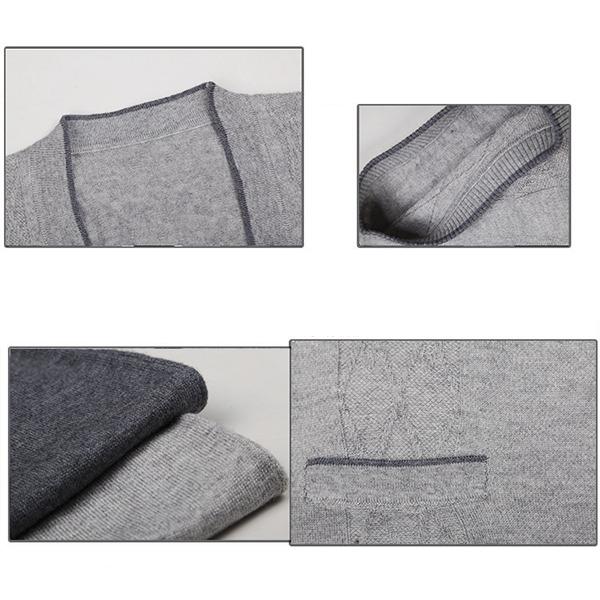 Men's Leisure Woolen Knitted Cardigan Vest Fashion V-neck Jacquard Vest