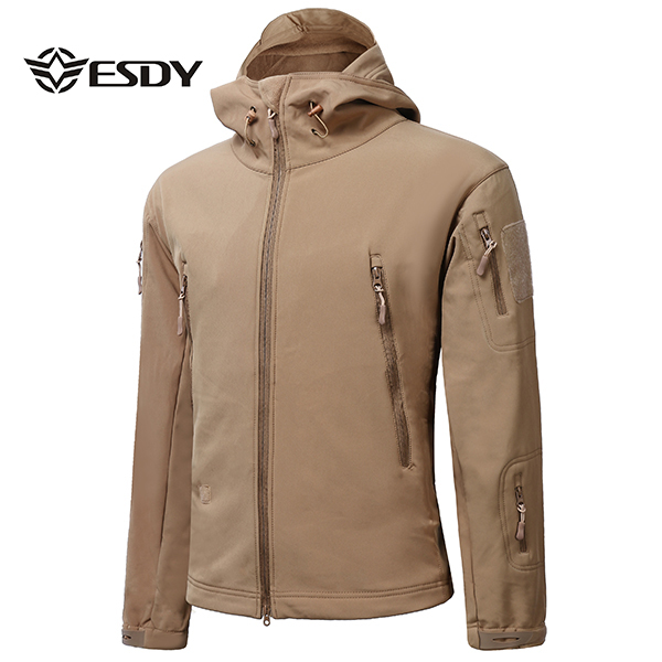 ESDY Mens Tactical Military Outdooors Waterproof Coat Soft Shell Outwear Concealed Carry Jacket