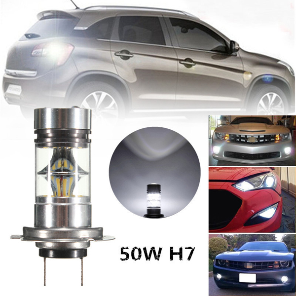 H7 50W LED 20-SMD Projector Fog Driving DRL Light Bulbs HID White 6000K