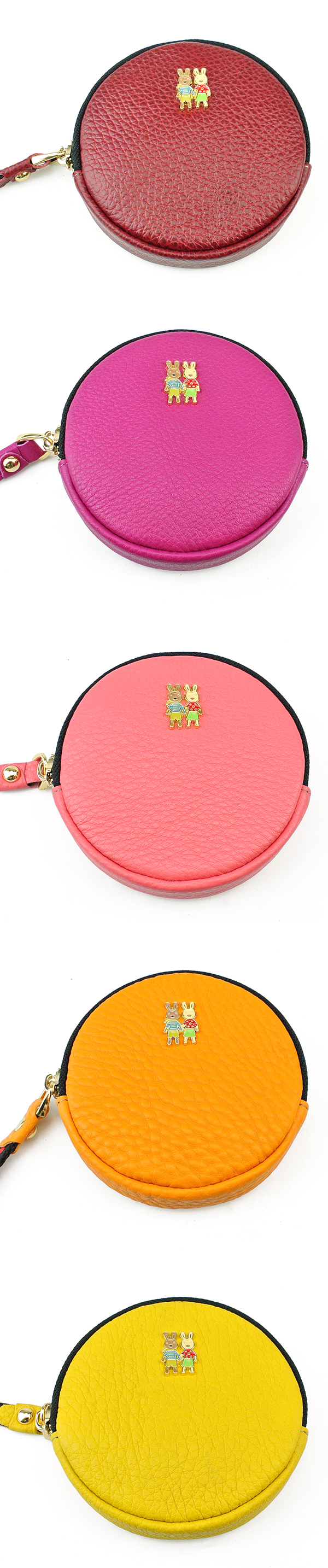 Genuine Leather Purse Fresh Personality Coin Bag Key Bag