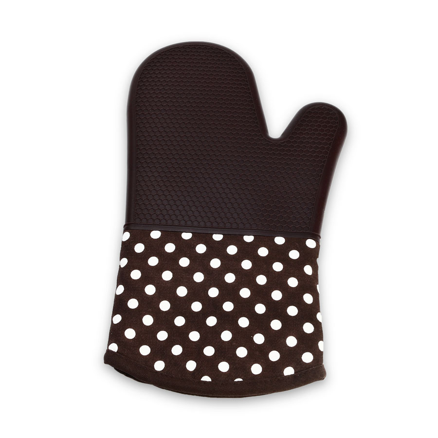 KCASA KC-PG091 1Pc Silicone Cotton Microwave Oven Mitt BBQ Oven Heat Resistant Pot Holder Glove