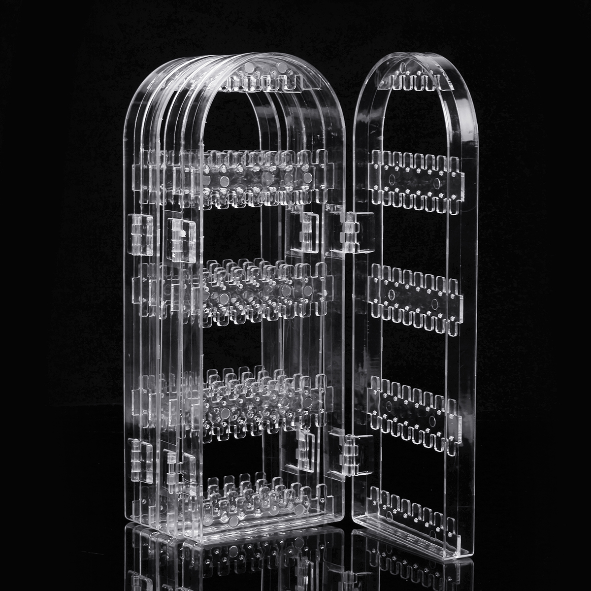 300 Holes Clear Display Rack Stand Organizer Holder for Earrings Studs Necklace Jewelry