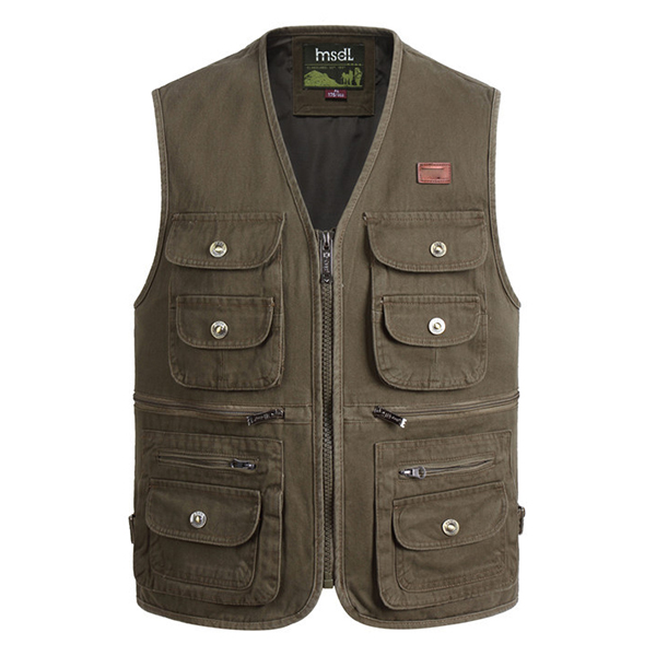 Купить со скидкой Outdooors Photography Fishing Multi Pocket Tactical Functional Cotton Sleeveless Vest